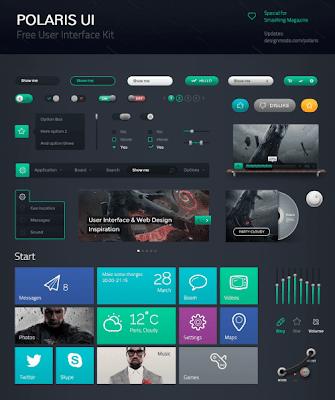 Polaris UI Kit + Linecons Icon Set