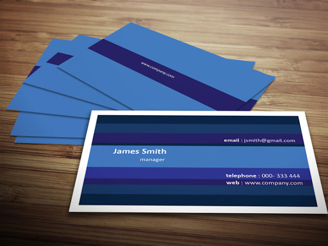 All Blue Business Card Template