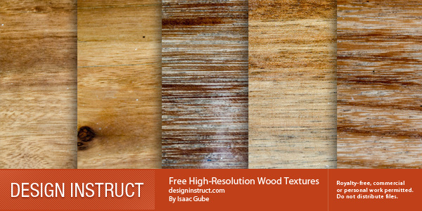 5 Free High-Resolution Wood Textures