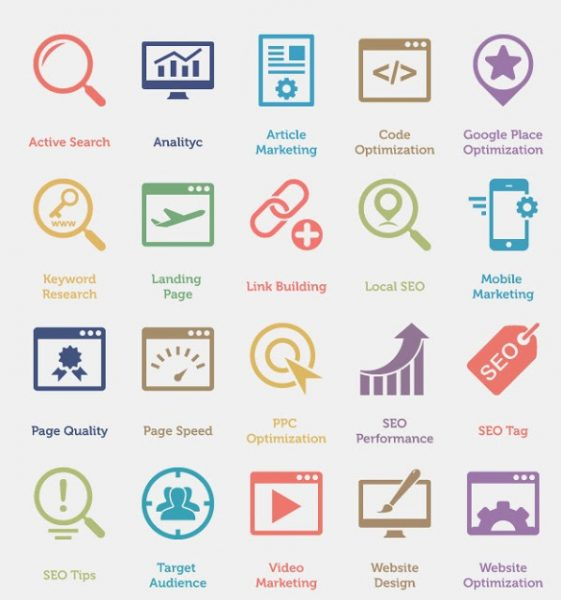 60 SEO Services Icons