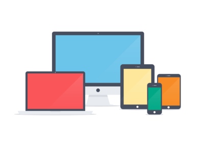 Apple devices – Flat icons (PSD)