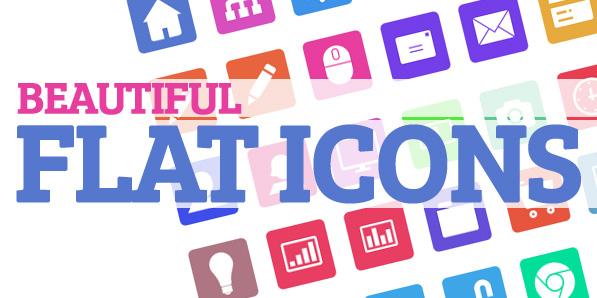 Icon set: Beautiful Flat Icons (90 items)