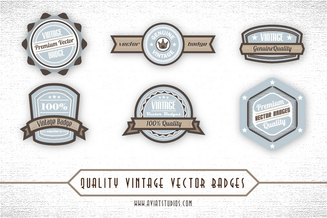 Free premium vintage vector Badges
