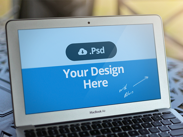 Macbook Template PSD