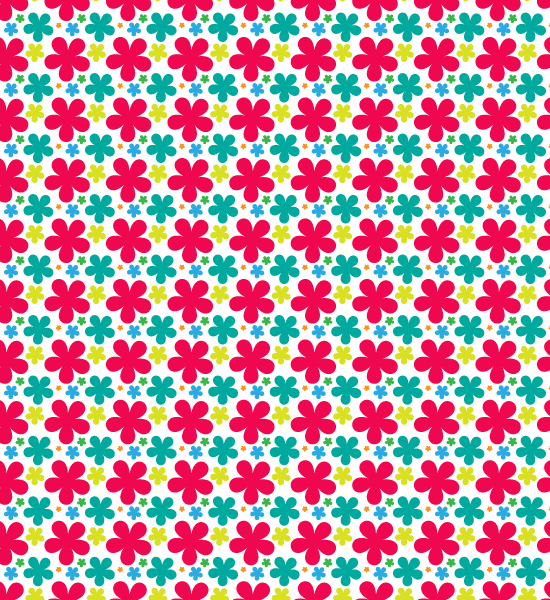 Colorful Summer Free Seamless Vector Petal Pattern