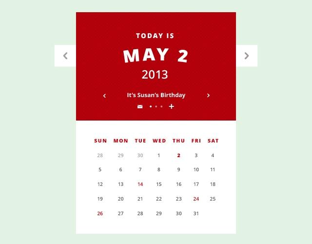 Calendar UI - Animated GIF + PSD