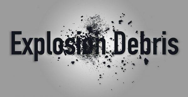 Explosive Debris Photoshop Brush