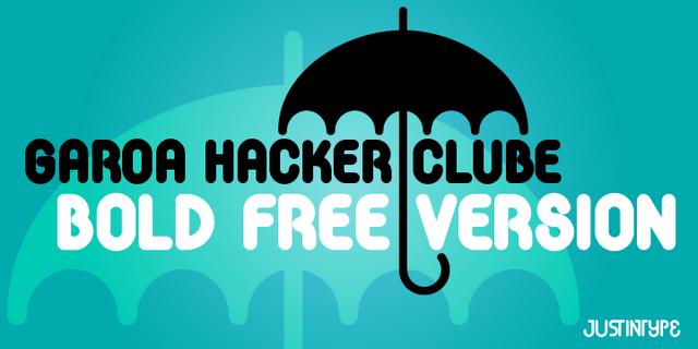 Free font: Garoa Hacker Clube