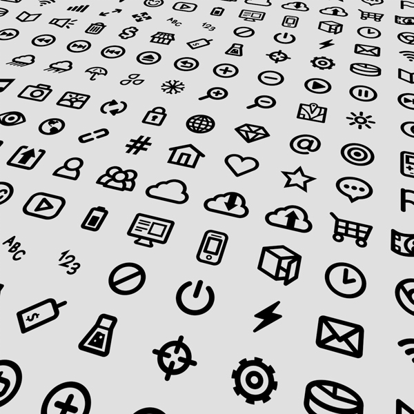 80 small icons vector design set