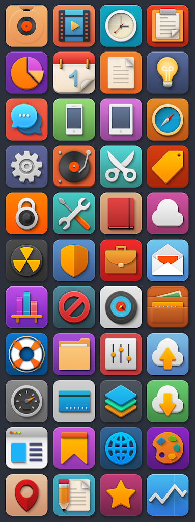 Softies: 44 colorful icons
