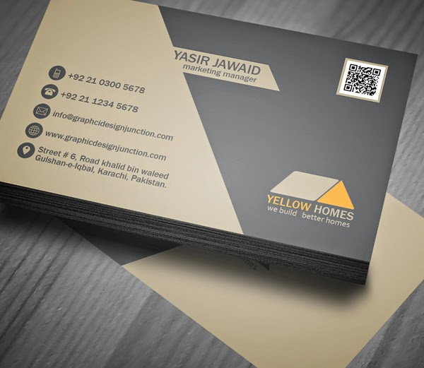 Free Real Estate Business Card Template (PSD)